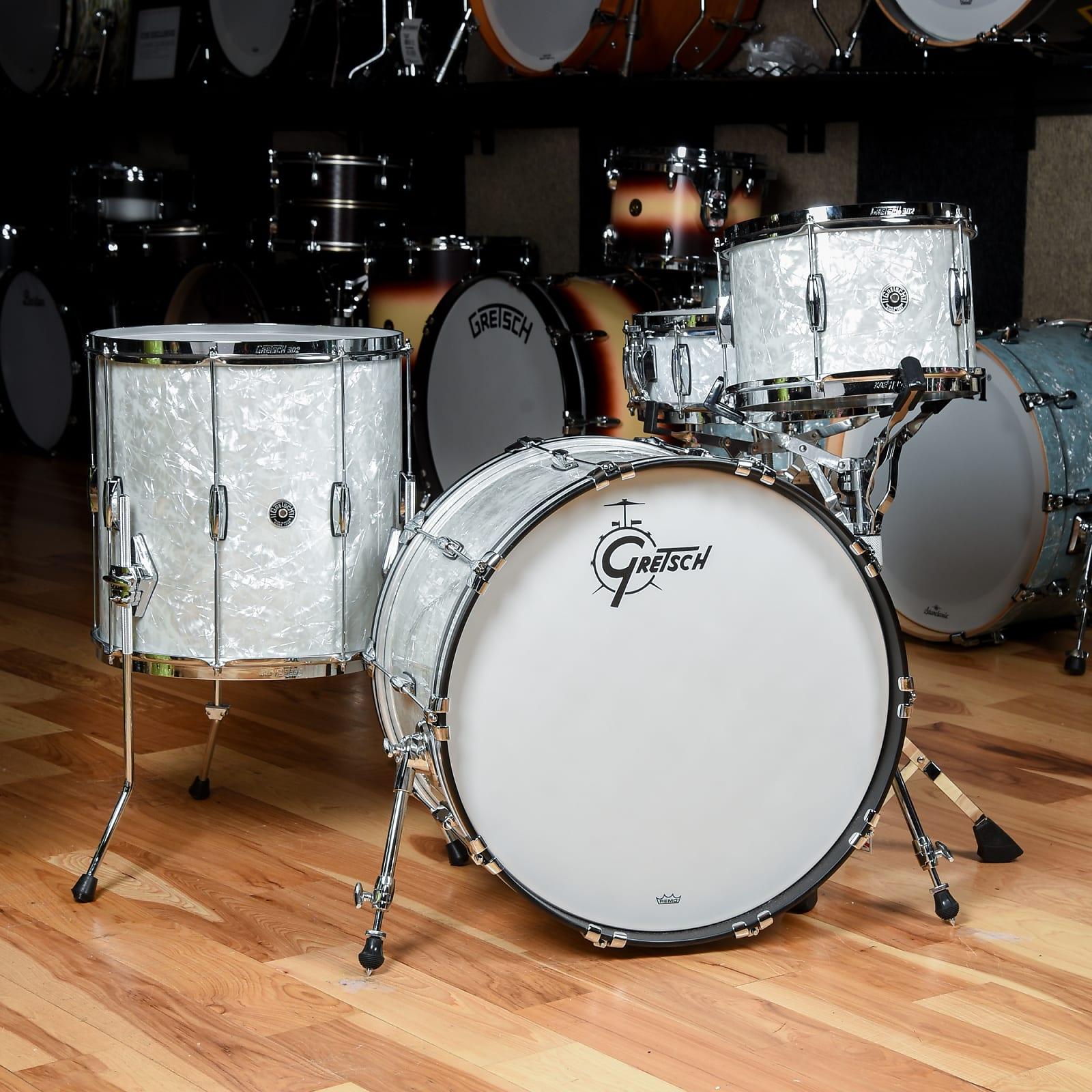 Gretsch Brooklyn Heritage Build 12/16/22/5x14 4pc. Drum Kit 60's Marine Pearl (CDE Exclusive)