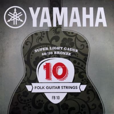 Yamaha 80/20 Bronze Acoustic Guitar Strings - Super Light FB10 10-47 for sale