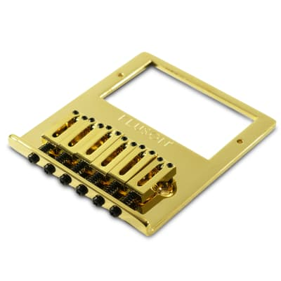 Kluson Contemporary Humbucker Bridge For Fender Telecaster w/ Brass Saddles Gold