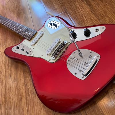 Fender MIJ Jaguar 1966 Reissue Candy Apple Red w/ Matching Headstock 1999 CIJ Japan