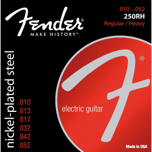 Fender Super 250RH Nickel-Plated Steel Electric Guitar Strings - REG/HEAVY 10-52 for sale