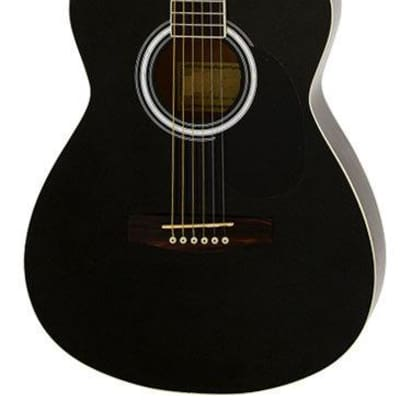 Aria AF-15 Folk Body Acoustic Guitar in Metallic Black for sale