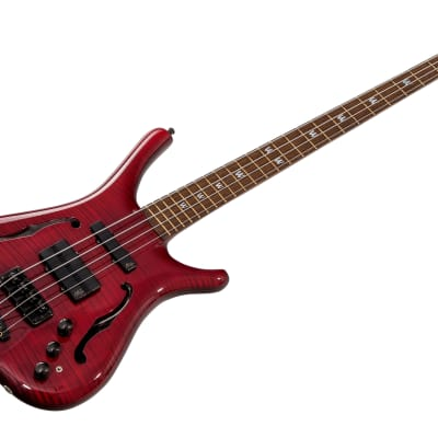 Warwick Infinity NT 4 Custom Shop Neck-Through Semi-Hollow - Trans Red for sale