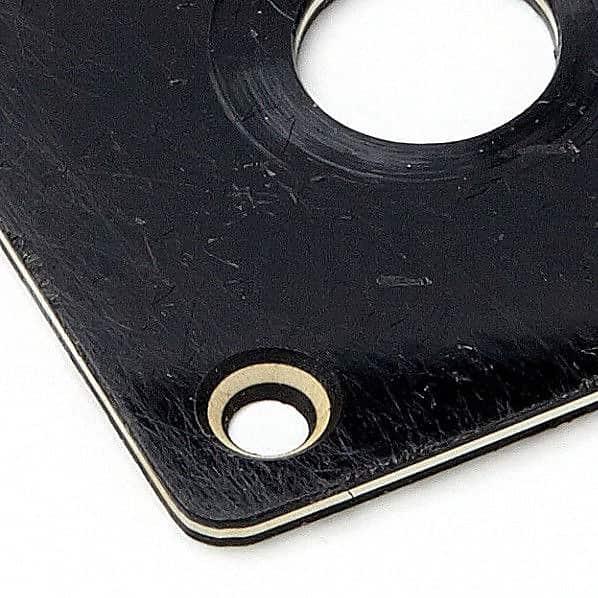 59 LPC Jackplate Black Plain 3 Ply Montreux Time Machine fits Les Paul Custom ®
