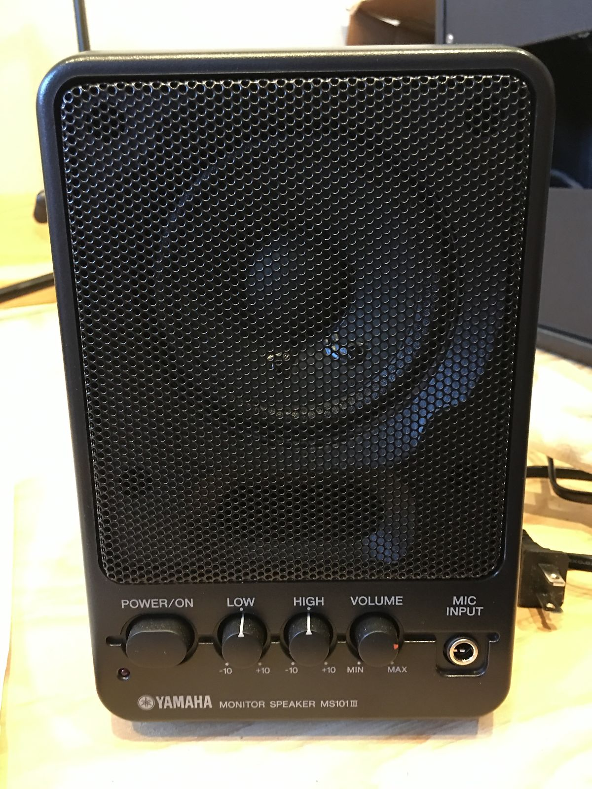 Yamaha ms101iii 10w powered monitor speaker single reverb for Yamaha powered monitor speakers