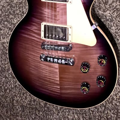 Gibson Les Paul 120th anniversary Peace placid purple flame top guitar made in the USA ohsc 2014