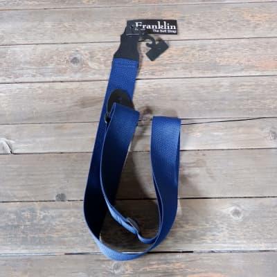 "Franklin 2"" Poly Web Guitar Strap Blue"