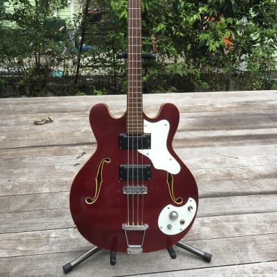 Mosrite Celebrity Bass 1960s Cherry Red for sale