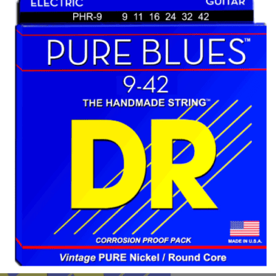 DR Pure Blues Electric Guitar Strings - 9-42