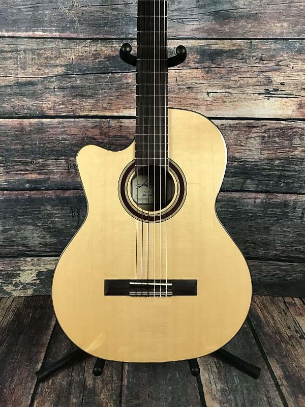 Guitars & Basses Musical Instruments & Gear Kremona Left Handed Rosa Luna Flamenco Series Acoustic Electric Cutaway Classica