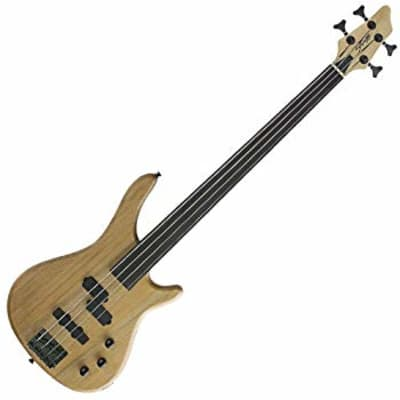 Stagg BC300FL-NS Fusion Solid Alder Body Hard Maple Bolt-On Neck Fretless 4-String Bass Guitar