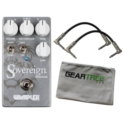 Wampler Sovereign Distortion Pedal UPDATED w/ 2 Patch Cables and Polish Cloth