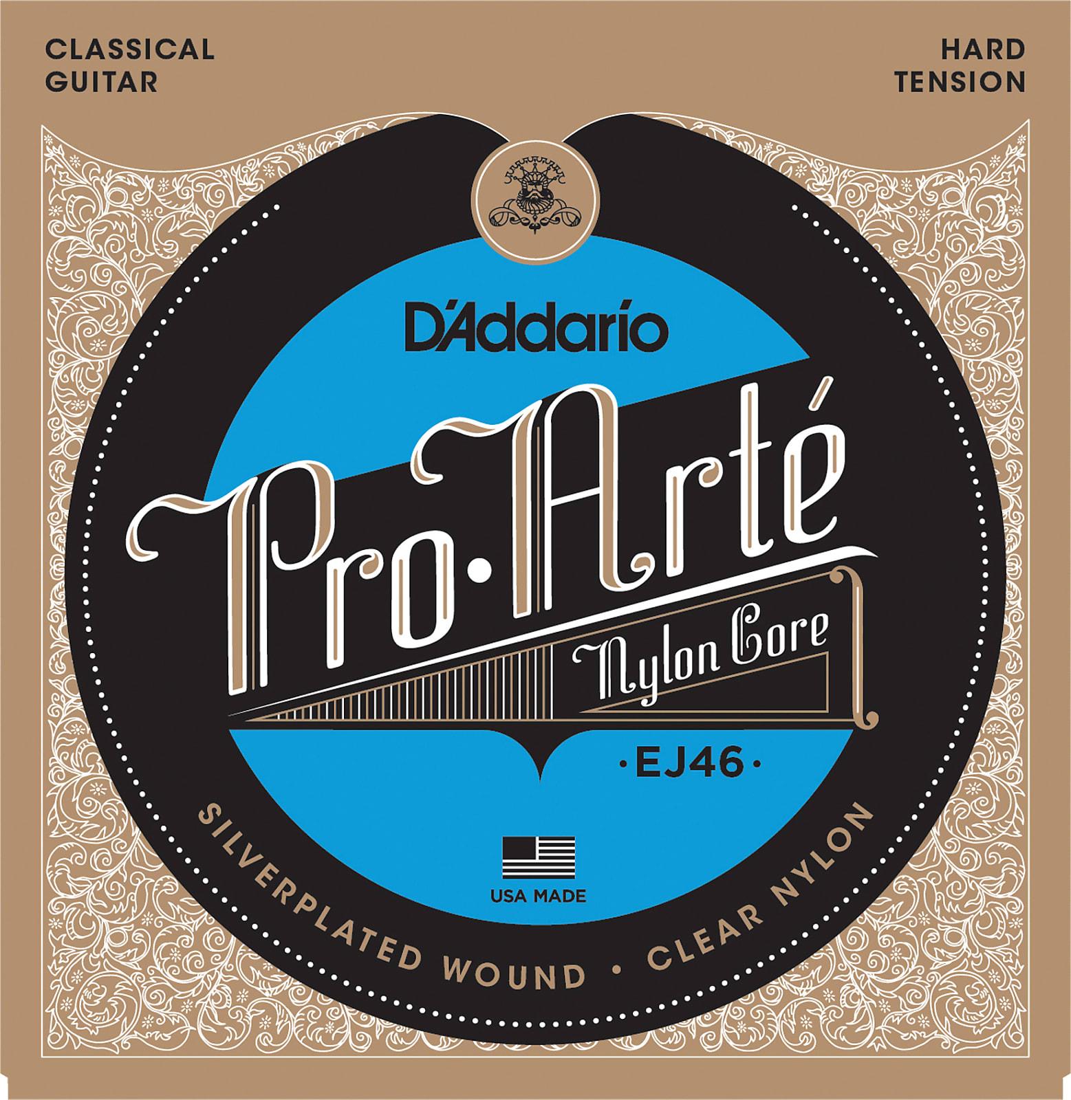 D'Addario EJ46 Pro-Arte Nylon Classical Guitar Strings, Hard Tension