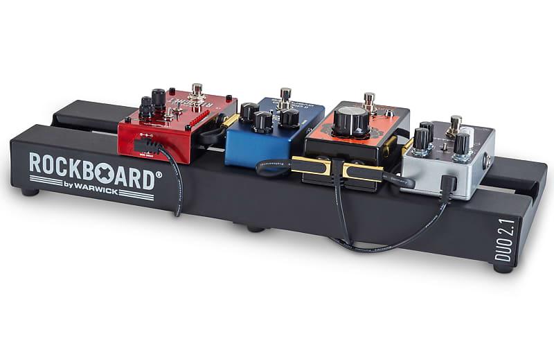 "5-pack Rockboard© Warwick© GOLD Flat Patch Pedal Board Guitar Cable 10 cm 3.93/"""