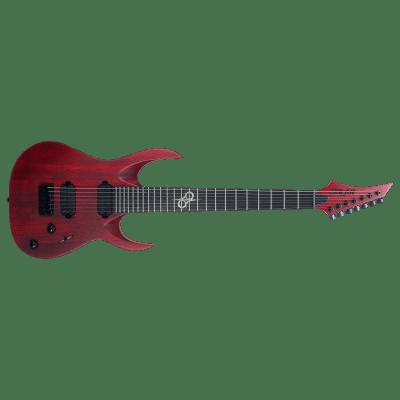 Solar A2.7TBR SK- Trans Blood Red Matte Electric Guitar