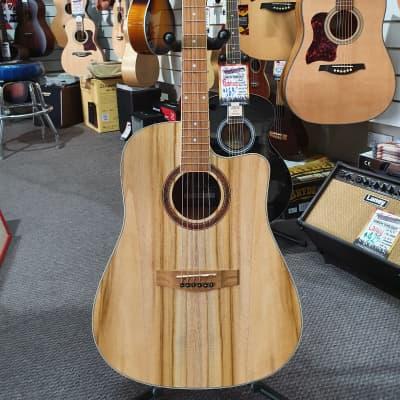 Martinez MDC-41-JTK Jati Teakwood Dreadnought Acoustic Electric Guitar for sale