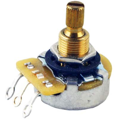 CTS Knurled Shaft Short Bushing Potentiometer, 250K Audio