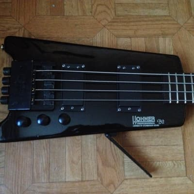 80's 1987 Hohner B2 Headless Bass guitar First Edition with adapter for regular strings for sale