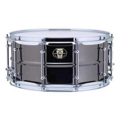 "Ludwig LW6514C Black Magic 6.5x14"" Brass Snare Drum with Chrome Hardware"