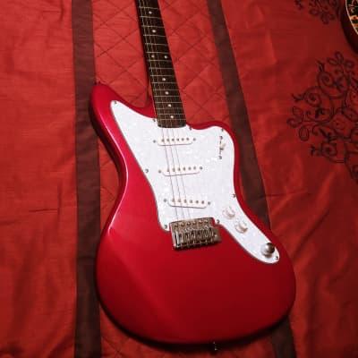 Jay Turser 2018 Elite-Turser JT-JG Candy Apple Red Jaguar style Electric Guitar w/ Crazy Mods for sale