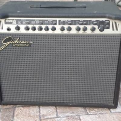 Johnson JM60 Marquis Black Guitar Amp rare VGOOD vintage tube/solid state 60 Watts for sale