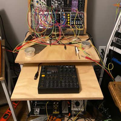 Eurorack Modular mini studio desk With keyboard tray