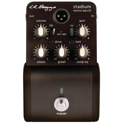 LR Baggs Stadium Bass Guitar Tone Shaping DI Pedal w/Overdrive Open Box Mint