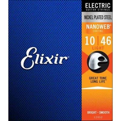 Elixir 12052 Nanoweb Light 10-46 Electric Strings
