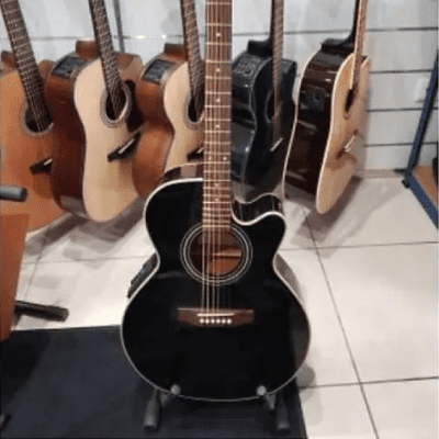 TAKAMINE EG541C (Korea) Black Chitarra Acustica Amplificata for sale