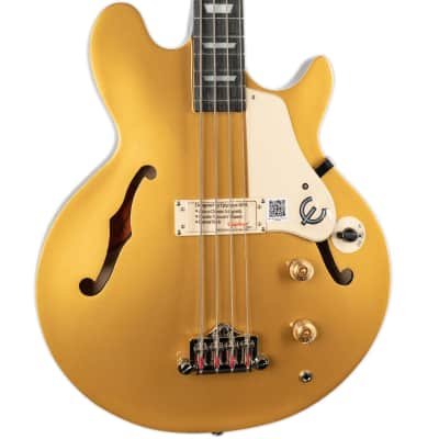 EPIPHONE JACK CASADY LES PAUL SIGNATURE BASS- METALLIC GOLD for sale