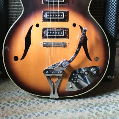Audition Triple Pickup Hollow Body 1960s Sunburst for sale