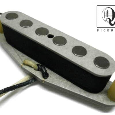 "Telecaster Pickup Neck .250"" QUARTER POUND Hand Wound Grey Fits Fender Guitar Nocaster Broadcaster"