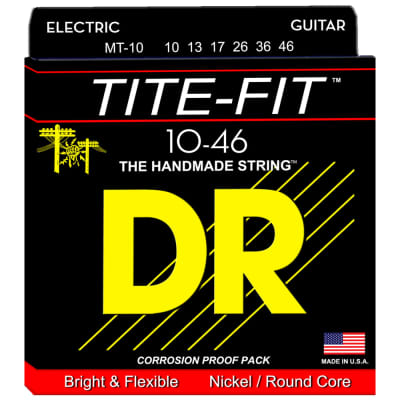 DR Strings MT-10 Tite-Fit Nickel Electric Medium 10-46
