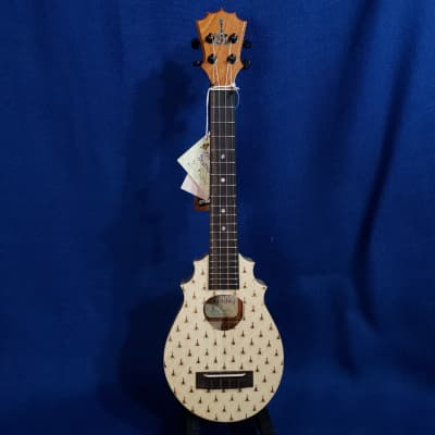 Mims Ukes: KoAloha Pineapple Sunday Tenor Scale Concert All Solid Spruce / Maple Hawaii Ukulele .662