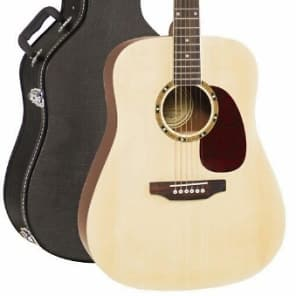JB Player Dreadnought Acoustic Guitar with Hardshell Case - Natural Gloss Finish for sale