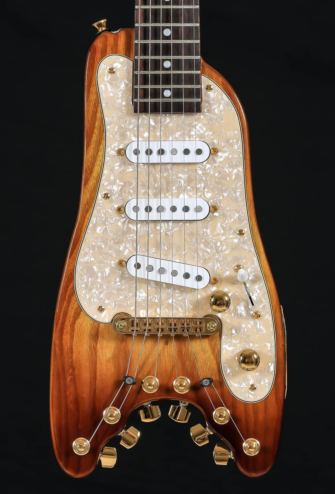 Rambler 174 Custom Strobelcaster Travel Guitar Reverb