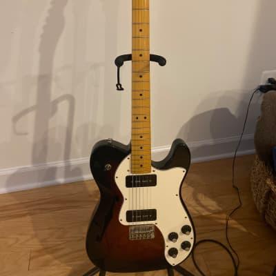 Fender Modern Player Telecaster Thinline Deluxe 2012 - 2018 3-Color Sunburst