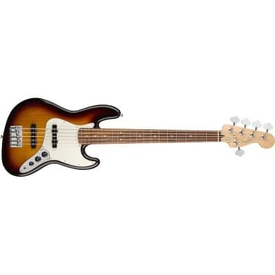 Fender Player Jazz Bass V 3 Tone Sunburst Pau Ferro for sale