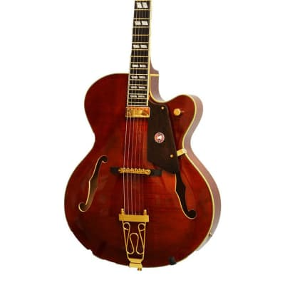 Alden AD-143 Deep Jazz Archtop Hollow Body Flamed Maple Mini Humbucker Electric Guitar New for sale