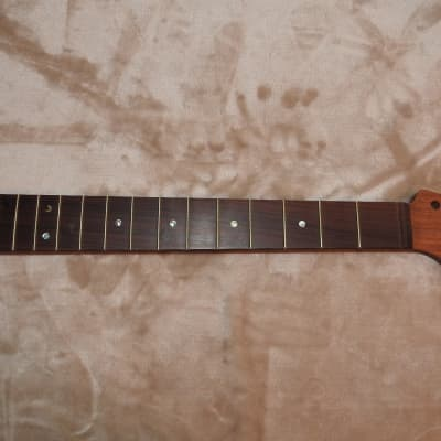 Strat Style Unfinished Neck Bolivian Rosewood on Sapele 22 Medium Tall Frets C Profile 12 Radius