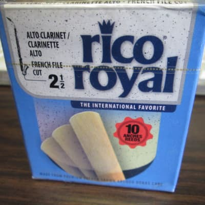 Rico RRO10ACL250 Royal  french file cut  Alto Clarinet Reeds - Strength 2.5 (10-Pack) 2010s NOS