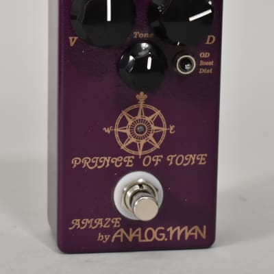 Amaze By Analogman Prince Of Tone Overdrive Guitar Effect Pedal for sale