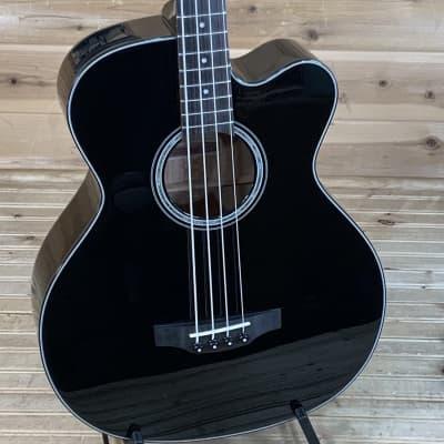Takamine GB30CE BLK G Series Jumbo Cutaway Acoustic/Electric Bass Gloss Black