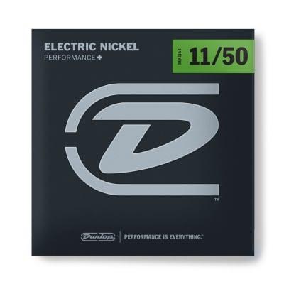 Dunlop DEN1150 Nickel Plated Steel Electric Strings -.011-.050 - Med Top/Hvy Bottom