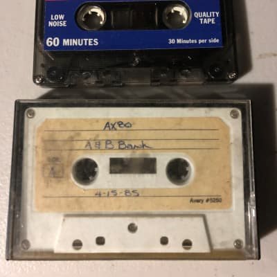 Akai AX80 Two Cassette Set Featuring Banks and Patches 1985