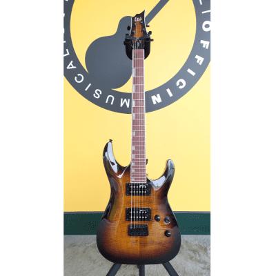 ESP LTD H200FM Dark Brown Sunburst for sale