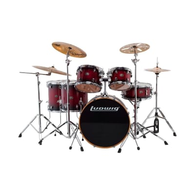 "Ludwig Evolution Maple 8x10 / 9x12 / 14x14 / 16x16 / 18x22 / 5.5x14"" Drum Set"