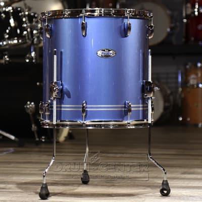 Pearl Masters Maple Complete 14x14 Floor Tom- Light Blue Metallic