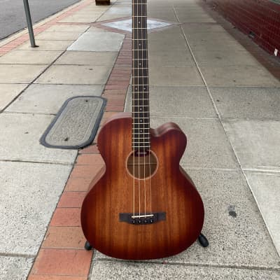 Martinez Southern Star Solid Mahogany Top Acoustic Bass With Case Satin Sunburst for sale