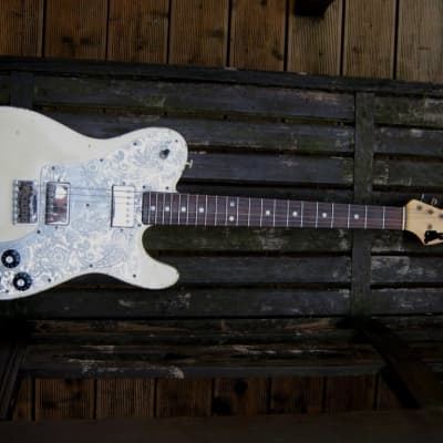 ray gerold, nick page , custom build telecaster deluxe  custom build  olympic white for sale